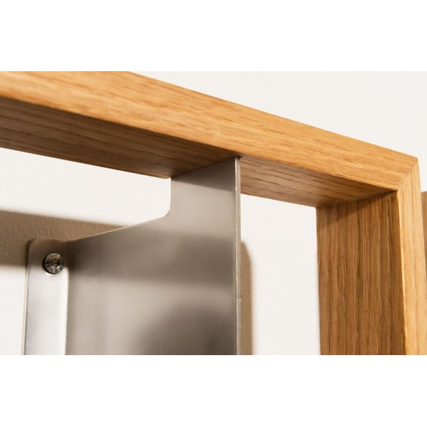 Półka na książki z drewna dębowego das kleine b b6, 25x69 cm