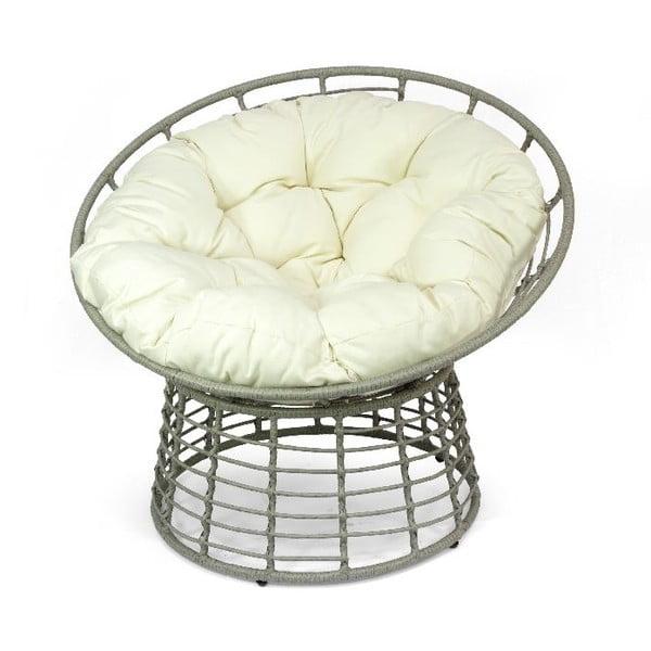 Fotel ratanowy Grigio Bianco