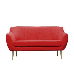 Czerwona sofa trzyosobowa Mazzini Sofas Sardaigne