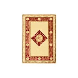 Dywan wełniany Bakero Vanilla/Red, 90x160 cm