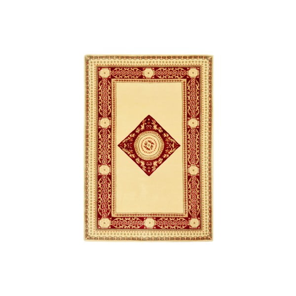 Dywan wełniany Bakero Vanilla/Red, 120x180 cm