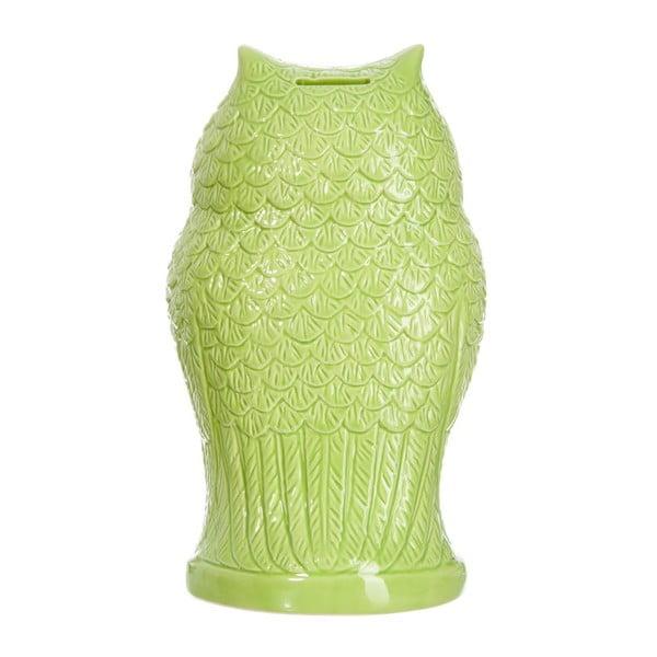 Skarbonka Green Owl, 15x13x26 cm