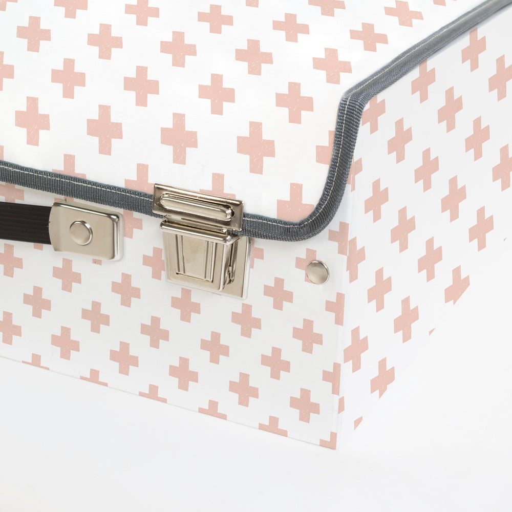 kuferek dzieci cy w krzy yki little nice things pink bonami. Black Bedroom Furniture Sets. Home Design Ideas