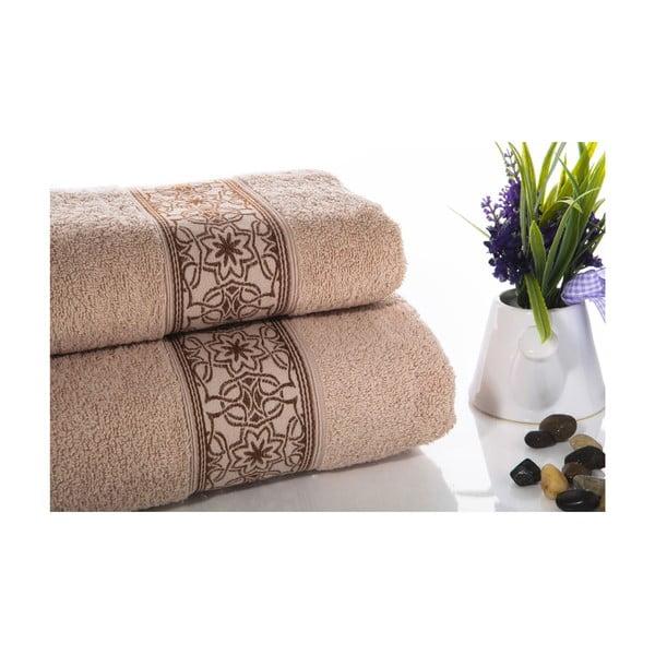 Zestaw 2 ręczników Mosaic V4, 50x90 cm + 70x140 cm