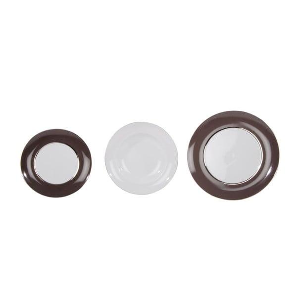 Komplet 18 talerzy ceramicznych Roma Brown