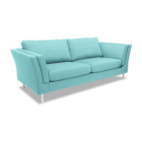 Jasnoturkusowa sofa dwuosobowa VIVONITA Connor
