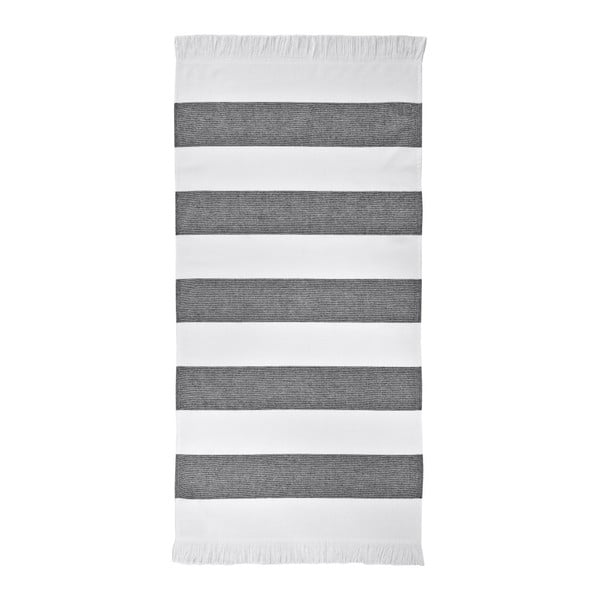 Czarny ręcznik Aquanova Jolie, 50x100cm