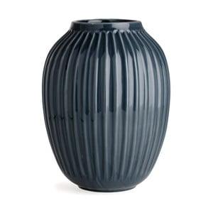 Bardzo duży antracytowy wazon Kähler Design Hammershoi