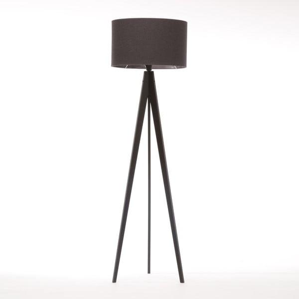 Lampa stojąca Artist Dark Grey Felt/Black Birch, 125x42 cm