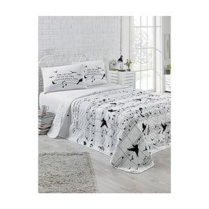 Narzuta pikowana z 2 poszewkami na poduszki Kimberly, 200x220 cm
