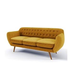 Pomarańczowa sofa trzyosobowa Wintech Indigo