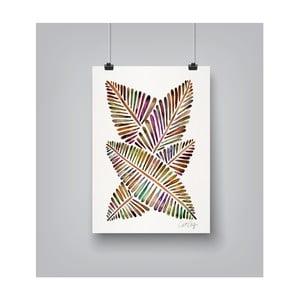 Plakat Americanflat Banana Leaves, 30x42 cm