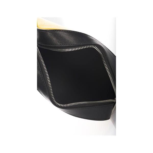 Skórzana torebka/kopertówka Krole Kath, żółta/czarna