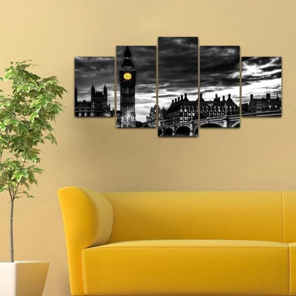 Wieloczęściowy obraz Black&White no. 78, 100x50 cm
