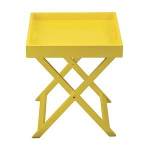 Żółty składany stolik z tacą Incidence Colorama