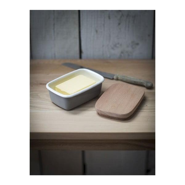 Maselniczka z drewnianą pokrywką Garden Enamel