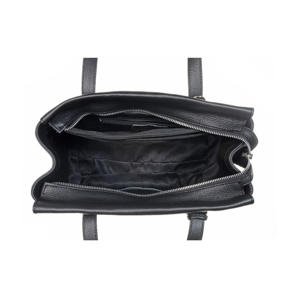 Skórzana torebka Glam Black