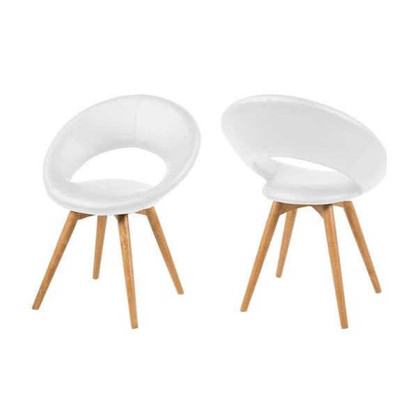 Białe krzesło Actona Plump