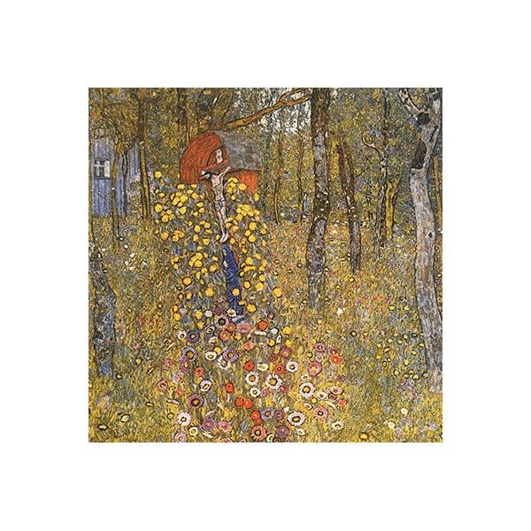 Reprodukcja obrazu Gustava Klimta – Farm Garden With Crucifix, 60x60 cm