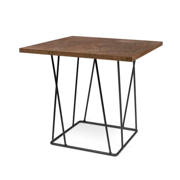 Brązowy stolik z czarnymi nogami TemaHome Helix, 50 cm