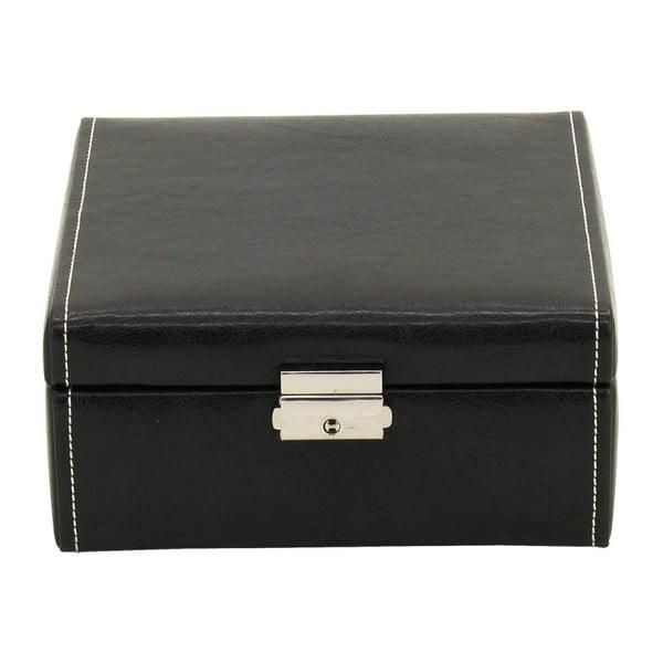 Czarne pudełko na 6 zegarków Friedrich Lederwaren Bond Case