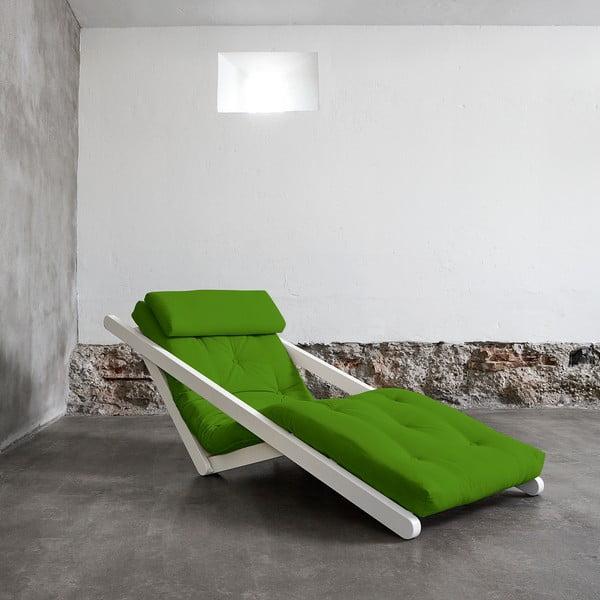 Szezlong Karup Figo, White/Lime, 70 cm