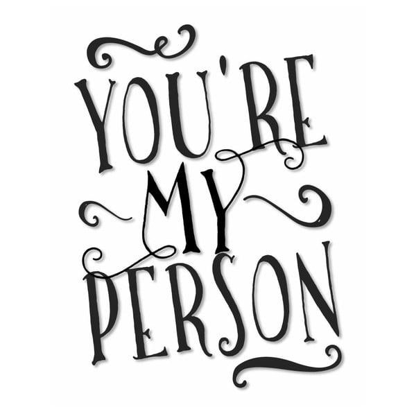 Plakat w drewnianej ramie My Person, 38x28 cm