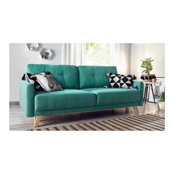 Turkusowa sofa rozkładana Bobochic Paris Balio