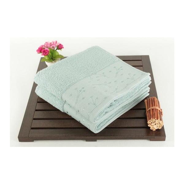 Zestaw 2 jasnozielonych ręczników Tomur Green, 50x90cm