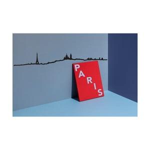 Czarna dekoracja ścienna z zarysem miasta The Line Paris