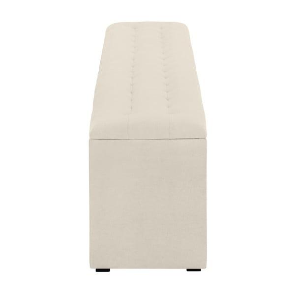 Kremowa ławka tapicerowana ze schowkiem Windsor & Co Sofas Nova, 180x47 cm