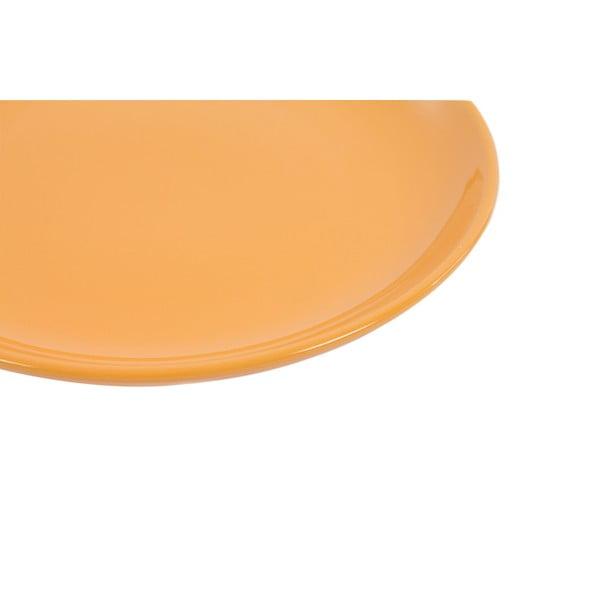 Komplet 6 talerzy deserowych Kaleidoskop 21 cm, pomarańczowy