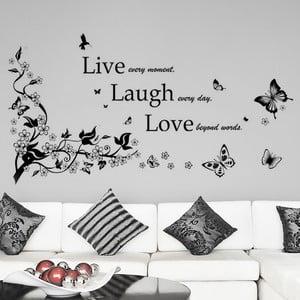 Naklejka ścienna Żyj, śmiej się, kochaj