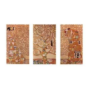 Reprodukcja obrazu Gustava Klimta - Triptych, 40x70 cm