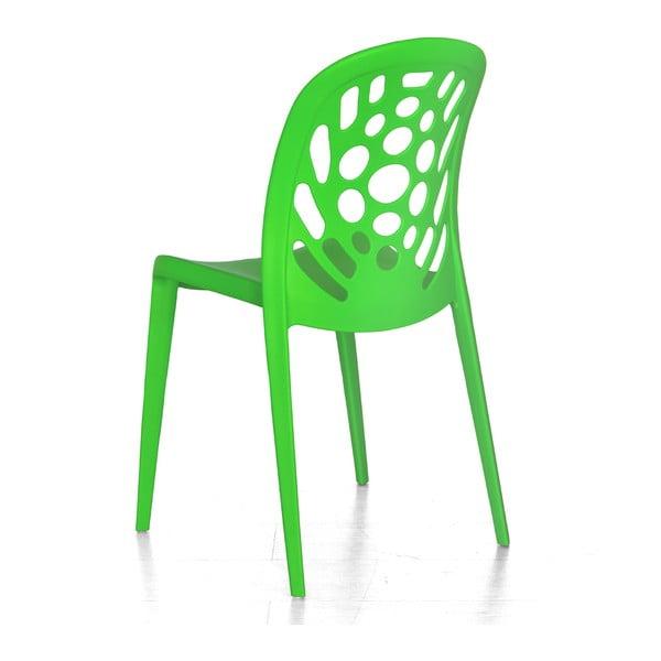 Krzesło Allegra, zielone