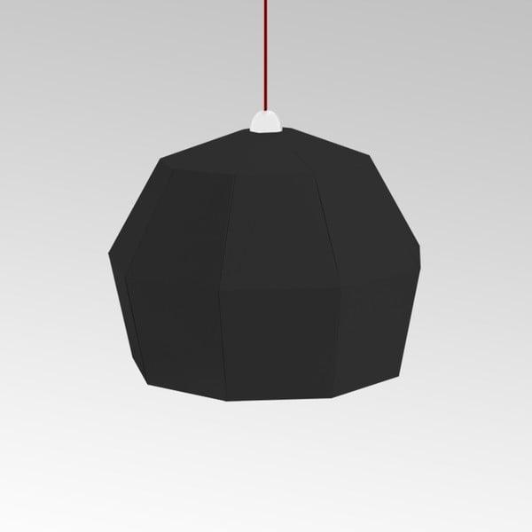 Kartonowa lampa Uno Fantasia A Black, z czerwonym kablem