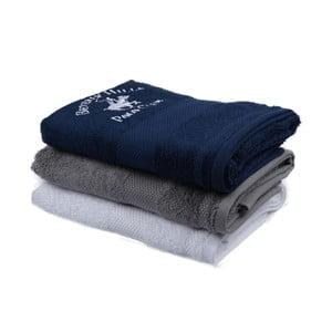 Zestaw granatowego, szarego i białego ręcznika Beverly Hills Polo Club Tommy Orj, 50x100cm
