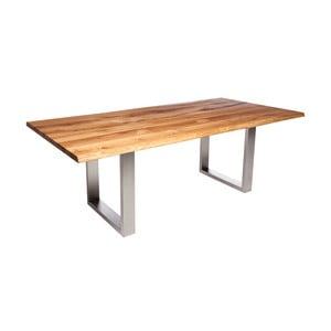 Stół z dębowego drewna Fornestas Fargo Alister, długość 160cm