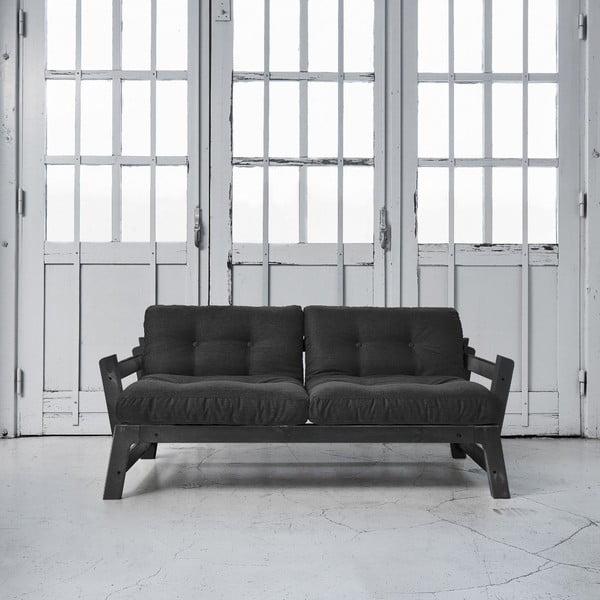 Sofa rozkładana Karup Step Black/Dark