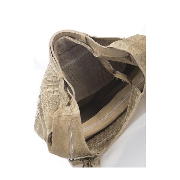 Beżowa torebka skórzana Massimo Castelli Jamilyn