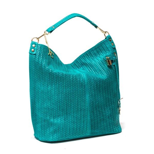 Skórzana torebka Renata Corsi 871, turkusowa