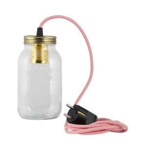 Lampa JamJar Lights, czerwono-biały okrągły kabel