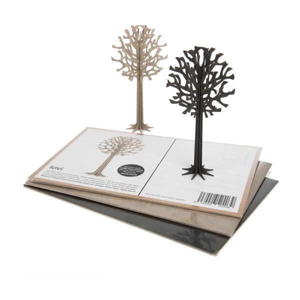 Składana pocztówka Lovi Tree Light Blue, 13.5 cm