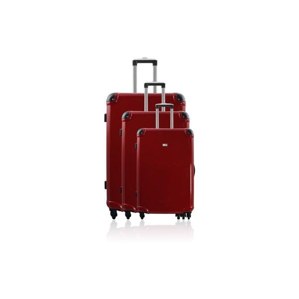 Komplet 3 walizek Cadenas Red