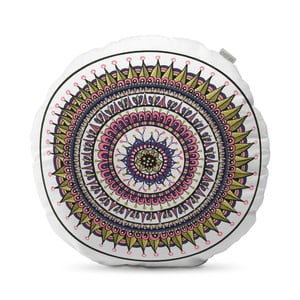 Beżowa poduszka HF Living Mandala, ⌀50cm