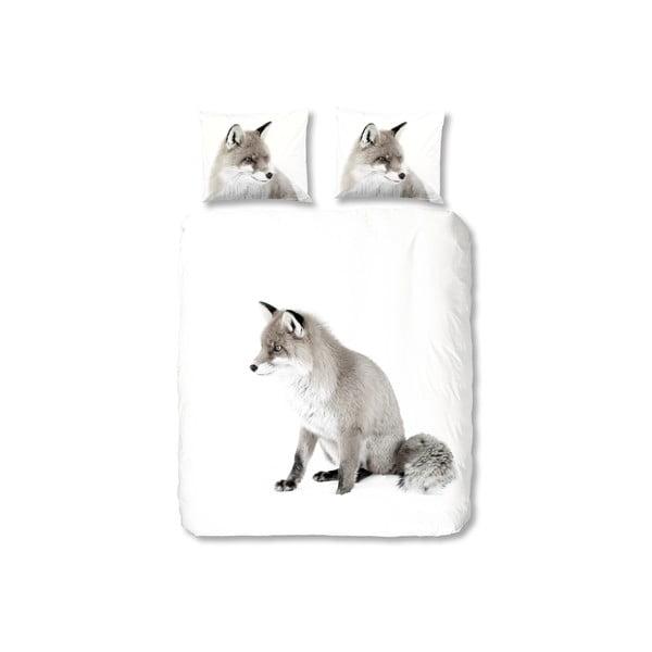 Pościel White Fox, 200x200 cm, zapięcie na zakładkę