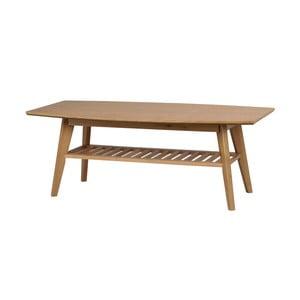 Naturalny stolik dębowy Folke Valkyra