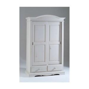 Biała szafa drewniana z przesuwnymi drzwiami Castagnetti Estelle