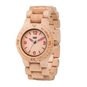 Drewniany zegarek Kale Beige and Pink
