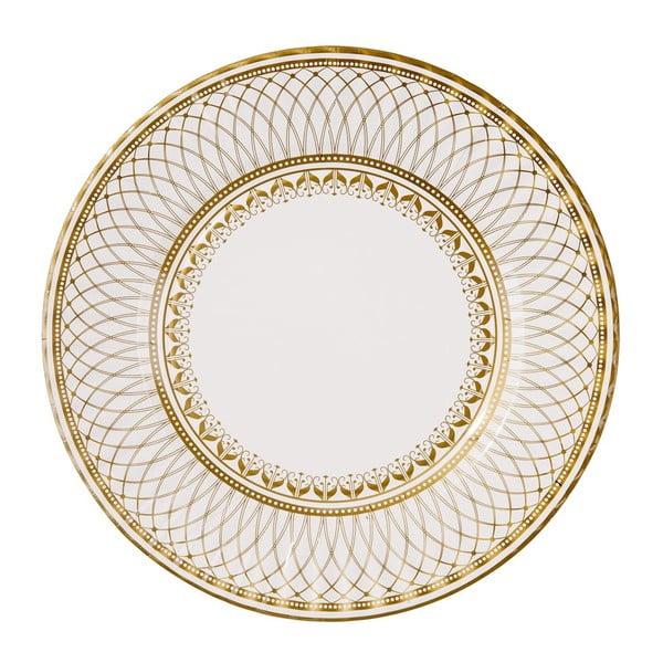 Papierowe talerzyki Golden 27 cm, 8 szt.